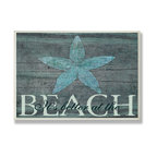 Stupell Industries - It's Better at the Beach Starfish Wall Plaque - Treat your home to some style with one this decorative wooden wall plaques.    It is produced on sturdy half-inch thick MDF wood, and comes with a saw tooth hanger on the back for instant use.  The sides are hand finished and painted so a perfect crisp look.  MADE IN USA.