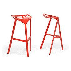 Bar Stools And Counter Stools Kaysa Red Aluminum Modern Bar Stools (Set of 2)