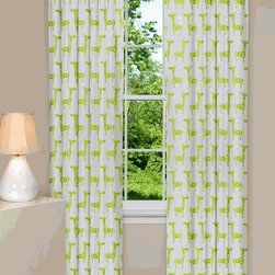 Stretch Curtains - The lime green giraffes adorning these curtains are adorable and gender neutral. A great window treatment for the nursery.