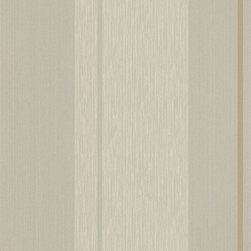 Graham and Brown - Steve Leung Mai Wallpaper - Cream - The classic striped Mai wallpaper pattern by Steve Leung has metallics elements, a complementary flecked feature, to match the accompanying plain.