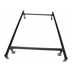 Khome - Khome Super Duty Metal Bed Frame with Rug Rollers & Locking Wheels-TWIN size - Easy Assembly in Less than 10 Minutes. No Additional Tools Required.