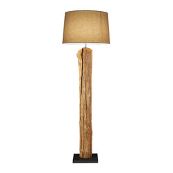 Scandinavian Design - Rustic driftwood Floor Lamp - Rustic Floor lamp made of natural Driftwood with coarse linen shade Elegance, sophistication, and Natural beauty are some of the words that describe this lamp, made of Driftwood that was handpicked, then carefully inspected to make it one of a kind,