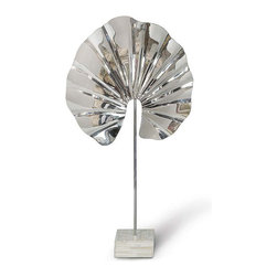Regina Andrew - Steel and Bone Lotus - Use this steel and bone lotus to add something unique to your space. This sculptural piece will give any table top or shelf height and interest.