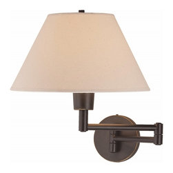 Lite Source Swinger 1-Light Bronze Wall Sconce -
