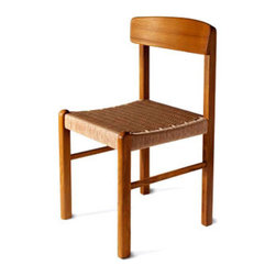 Teak dining chair with rope seat - Beautifully crafted dining chair with natural rope seat. Made of 100% solid teak wood.