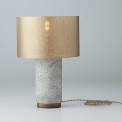Bryant Concrete Table & Desk Lamp With Metal Shade