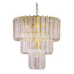 Joshua Marshal - Nine Light Polished Brass Up Chandelier - Nine Light Polished Brass Up Chandelier