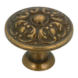 """Louis Xv Collection Solid Brass Knob - 132 - Bp13220ae - Finish Antique English Diameter 0.781"""" Length - Overall Dimensions 0.781"""" Projection - Overall Dimensions 0.625"""" Screw/Nail M4 (Included) Collections Louis XV Collection Material Solid Brass Packaging format Bag"""