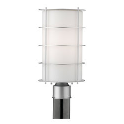 Forecast Lighting - Forecast F8494-41NV Hollywood Hills Vista Silver Outdoor Post Light - Forecast F8494-41NV Hollywood Hills Vista Silver Outdoor Post Light