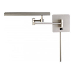 George Kovacs - 1 Light Swing Arm Wall Lamp, Nickel - 1 Light Swing Arm Wall Lamp