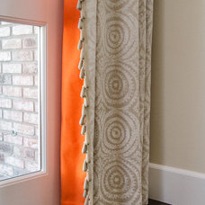 Contemporary Curtains by Evars + Anderson Interior Design