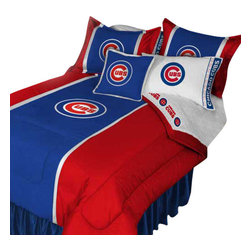 Store51 LLC - MLB Chicago Cubs Baseball Team 4pc Twin Bedding Set - FEATURES: