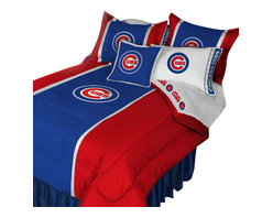 Store51 LLC - MLB Chicago Cubs Bedding Set Baseball Bed, Twin - Features: