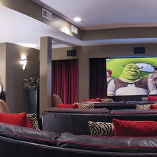 Modern Home Theater by Crimson Design Group