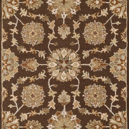 """Loloi Rugs - Loloi Rugs Ashford Collection - Brown / Multi, 3'-6"""" x 5'-6"""" - A classic beauty re-imagined for today, hand-tufted Ashford harnesses the timeless elegance of historically rich floral rug patterns, but updates them with an incredibly calming palette. The loop and pile texture adds depth and visual interest to these rugs, which are handmade in India of 100% wool."""
