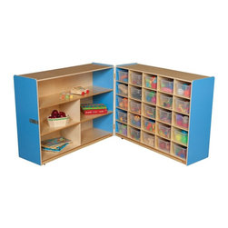 Wood Designs - Wood Designs Tray and Shelf Fold Storage with 25 Clear Trays - WD23631B - Shop for Childrens Toy Boxes and Storage from Hayneedle.com! About WDM Inc.For 30 years Wood Designs has put passion for the enrichment and safety of children into quality wooden early learning furniture. Dennis and Debbie Gosney the couple behind this labor of love have taken their 50 years combined experience in child development furniture manufacturing and built a company at the forefront of innovation and safety. Intuitive design coupled with novel safety features like Pinch-me-not hinges and Tip resistant furniture set Wood Designs apart from the typical early learning furniture manufacturers.