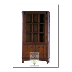 Mission Buffets and Sideboards - This beautiful China Cabinet is an identical Historic Reproduction of Gustav Stickley's Trapazoid China Cabinet Catalog #902.  It is 100% Handcrafted in the United States by our Master-Craftsmen and Guaranteed for Life!