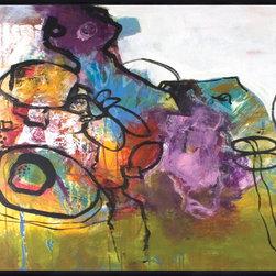 "SCANDINAVIAN ART FACTORY - LARGE ARTWORK - ""B- REPEAT"""
