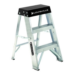 Louisville - Louisville 2 ft. Aluminum Step Ladder - 300 lbs Multicolor - AS3002 - Shop for Ladders from Hayneedle.com! It's little but this ladder packs a punch. The Louisville 2 ft. Aluminum Step Ladder is perfect for all manner of around-the-house tasks and it's got the extras to prove it. The built-in ProTop has a hardware tray a paint can holder handyman's tool slots a pipe holder and a magnetic curved from to secure small steel parts. The ladder has slip-resistant rubber feet comfortable 3-inch steps and an easy fold-flat design that's always at the ready. Bottom width: 16.5 inches; Spread: 18 inches. About Louisville Ladder Since 1946 Louisville Ladder has been innovating in the field of climbing products and building a rock-solid reputation. As the first company to create aluminum step and extension ladders and the first to create a fiberglass ladder they're well aware of the ground they stand on. Look to Louisville for rock-solid basic products and incredible new inventions designed to let both the homeowner and professional worker reach new heights.