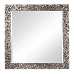 Murray Feiss - Murray Feiss MR1179QS Xera Transitional Square Mirror - Murray Feiss MR1179QS Xera Transitional Square Mirror