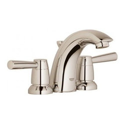 "Grohe - Grohe 20120EN1 Brushed Nickel Arden Arden Widespread Bathroom Faucet - Product Features:Faucet body constructed of solid brassCovered under Grohe s limited lifetime warrantyGrohe faucets are exclusively engineered in GermanyFinishes will resist corrosion and tarnishing through everyday use - finish covered under lifetime warrantyPressure resistant flexible connection hosesDouble handle operation - handles rest on 1/4 turn valvesADA compliant - complies with the standards set froth by the Americans with Disabilities Act for bathroom faucetsLow lead compliant - meeting federal and stat regulations for lead contentWaterSense Certified product - using at least 30% less water than standard 2.2 GPM faucets, while still meeting strict performance guidelinesDesigned for use with standard U.S. plumbing connectionsProduct Technologies / Benefits:Starlight Finish: Continuously improving over the last 70 years GroheÂ's unique plating process has been refined to produce and immaculate shiny surface that is recognized as one of the best surface finishes the world over. Grohe plates sub layers of copper and/or nickel to ensure that a completely non-porous, immaculate surface awaits the chrome layer. This deep, even layered chrome surface creates a luminous and mirror like sheen.SilkMove Cartridge: The rich and smooth handling of our single lever faucets conveys pure quality. As you change the temperature from hot to cold, one ceramic disc glides effortlessly across the other with absolute precision. These cartridges are manufactured in a high-tech process and feature discs made from a space-proven ceramic alloy. The SilkMove cartridge is yet another example of design and technology fusing to bring you an enhanced water experience.Product Specifications:Overall Height: 4-5/8"" (measured from counter top to the highest part of the f"
