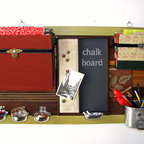 Salvaged Sanity - Mail Organizers - This beautiful mail organizer will bring vintage style to your home, craft room, office or cubicle. Organize all your paper, pencils and supplies and add some color to your space.