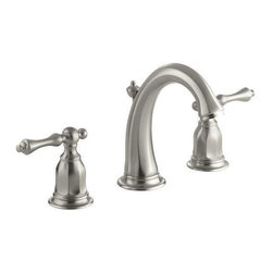 Kohler - Kelston Widespread Lavatory Faucet - Vibrant Brushed Nickel - Gracious and inviting, Kelston evokes the grandeur of traditional design while delivering outstanding performance. Water flows smoothly from the curved spout of this Kelston widespread sink faucet, while two ergonomic lever handles allow you to precisely control and maintain water pressure and temperature. This faucet is conveniently outfitted with easy-to-install and leak-free UltraGlide valves.