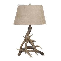 Crestview Collection - Crestview Collection CVATP533 Antler Tropical Table Lamp - Crestview Collection CVATP533 Antler Tropical Table Lamp