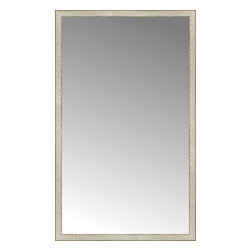"""Posters 2 Prints, LLC - 41"""" x 67"""" Libretto Antique Silver Custom Framed Mirror - 41"""" x 67"""" Custom Framed Mirror made by Posters 2 Prints. Standard glass with unrivaled selection of crafted mirror frames.  Protected with category II safety backing to keep glass fragments together should the mirror be accidentally broken.  Safe arrival guaranteed.  Made in the United States of America"""