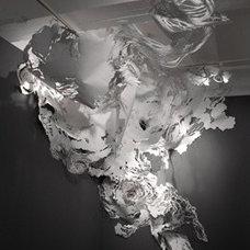 mia pearlman. cut paper installation