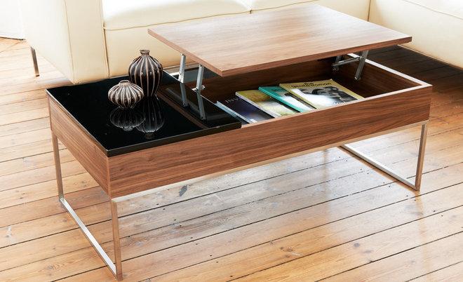 Modern Coffee Tables Max Walnut-Black Coffee Table