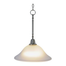 Premier - One Light 15 inch Sonoma Pendant Fixture - Brushed Nickel - Premier 617214 15in. W by 20in. H Sonoma Lighting Collection 1 Light Pendant Down light, Brushed Nickel.