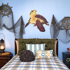eclectic bedroom by Siddons Design Team, Decorating Den Interiors