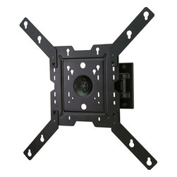 """Peerless - Pivoting Wall Mount, 22""""-46"""" up to 70 lbs. - The Peerless PRMP4X4 Pivoting Wall Mount, 22-46 In. up to 70 lbs. featureS versatile display positioning and one-person, Hook-and-Hang easy installation. The pivoting arm allows you to extend the display up 7.24-inches (184mm) from the wall, and can retract to just 2.59-inches (66mm) from the wall. The integrated cable management provides a clean, professional finish. One-Touch tilt of +15/-15o, +5/-5o roll for post-installation leveling, and +90/-90o pivoting means the display will be perfectly positioned for the optimum viewing angle.Holds display only 2.59-in. (66mm) from the wall and extends to 7.24-in. (184mm) from the wall