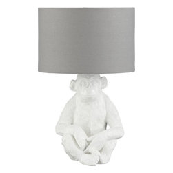 Luli Table Lamp - I love this cute and quirky monkey lamp. It's perfect for a nursery or kids' bedroom.
