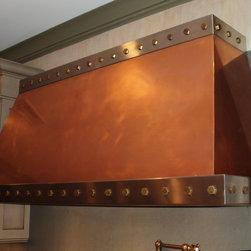 Copper Range Hood - Brooks Custom - Copper Range Hood with Bronze Rivets by Brooks Custom