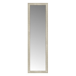 """Posters 2 Prints, LLC - 16"""" x 55"""" Libretto Antique Silver Custom Framed Mirror - 16"""" x 55"""" Custom Framed Mirror made by Posters 2 Prints. Standard glass with unrivaled selection of crafted mirror frames.  Protected with category II safety backing to keep glass fragments together should the mirror be accidentally broken.  Safe arrival guaranteed.  Made in the United States of America"""