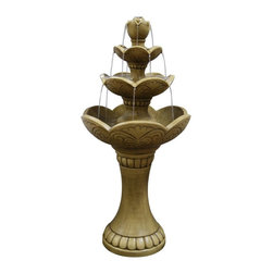 Alpine - Lotus Tiering Fountain - Features:Dimensions: