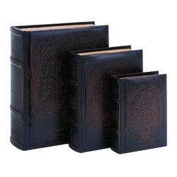 Benzara - Frog Prince Continued Book Box Set in Smooth Leather - Frog Prince Continued Book Box Set in Smooth Leather. A marvelous book box set to keep all your little secret treasures hidden, for only you to find them.