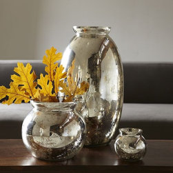 Mercury-Glass Vases - Mercury glass is a timeless accent for the home. These make a great gift for the mom who loves home decor and vases of fresh flowers.