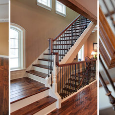 Traditional Staircase by Martin Bros. Contracting, Inc.