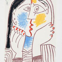 Pablo Picasso Estate Collection Visage II Hand Signed with COA - PABLO PICASSO ESTATE COLLECTION