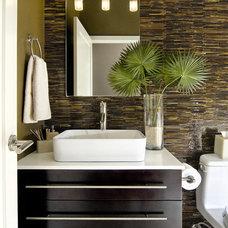 Modern Bathroom by Artistic Tile
