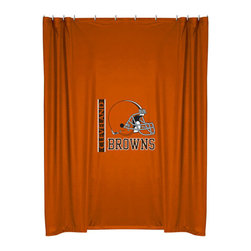Sports Coverage - NFL Cleveland Browns Football Locker Room Shower Curtain - FEATURES:
