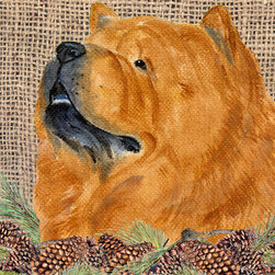 Caroline's Treasures - Chow Chow Flag Canvas House Size - Full size house flag is made from a 100% polyester heavy weight canvas material. Not your typical house flag that you might find from a mass merchant. These flags are only sold online and in specialty boutiques. This flag is much heavier than most flags currently being sold by other manufacturers. This flag is fade resistant and weather proof. The flag measures approximately 28 inches x 40 inches (wooden flag pole, hanging bracket or yard stand sold seperaletly)