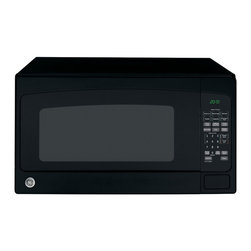 None - GE JES2051DNBB Black 2 Cubic Foot Countertop Microwave - Get great cooking results every time with the GE JES2051DNBB countertop microwave,with a jumbo-sized 2-cubic-foot capacity and a sleek black finish that will update the look of any kitchen. The unit comes with a glass turntable tray.