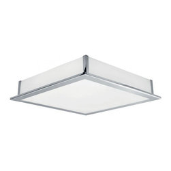 Eglo - Auriga Ceiling/Wall Light - Auriga ceiling and/or wall light in matte nickel finish or in chrome finish both with steel base and white glass.