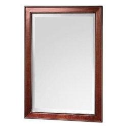 "Foremost - Foremost Hartford 28-1/2 x 21 Poplar Framed Mirror, Walnut (HFNM2129) - Foremost HFNM2129 Hartford 28-1/2"" x 21"" Poplar Framed Mirror, Walnut"