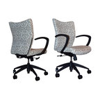 Office Chairs Upholstered in Lacefield Fabrics -