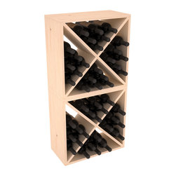 """Wine Racks America - 48 Bottle Wine Cube Collection in Ponderosa Pine, (Unstained) - Two versatile 24 bottle wine cubes. Perfect for nooks, crannies, and converting that """"underneath"""" space into wine storage. Mix and match finishes for a modern wine rack twist. Popular for its quick and easy assembly, this wine rack kit is a perfect storage solution for beginners and experts."""